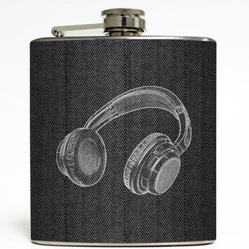 Let the Beat Rock - Liquid Courage Flasks - 6 oz. Stainless Steel Flask