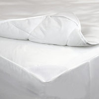 AllerEase 2-in-1 Waterproof Allergy Protection Mattress Pad-White (Twin), Variation Parent
