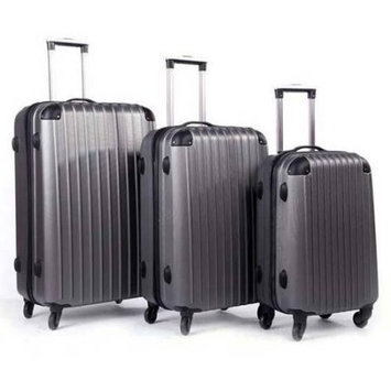 Inland Products Inc ProHT 3-Piece Hardside Luggage Set, 28 Inch, 24 Inch and 20 Inch Set, Silver by Inland Products