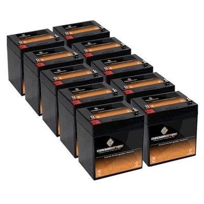 12V 4.6AH SLA Battery replaces pc1250 ub1250 ca1240 bp5-12 es4-12 - 10PK -...