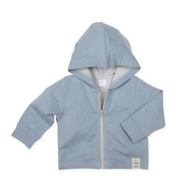 Robeezr Infant Boy's Robeez Terry Zip Hoodie, Size 0-3M - Blue