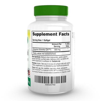 Ubiquinol 300mg 60 Softgels EAF CoQ10 (Enhanced Absorption Formula Coenzyme Q10 as Kaneka Ubiquinol)