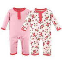 Hudson Baby Newborn Baby Girls Union Suit 2 Pack