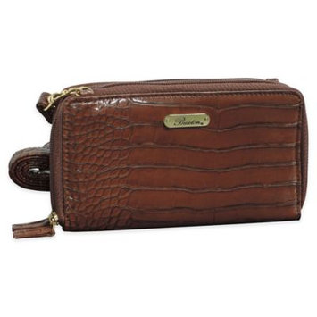 Buxton Nile Exotic Dual Zip-Around Convertible Ultimate Organizer, Women's, Brown