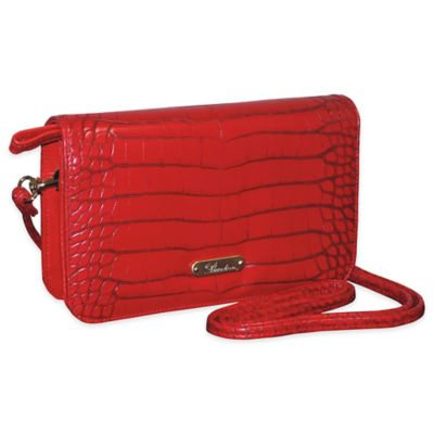 Buxton Women's Nile Exotics Crossbody Mini Bag Red Size 7.5