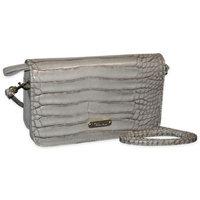 Buxton Women's Nile Exotics Crossbody Mini Bag Grey Size 7.5