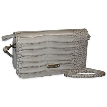 Buxton Women's Nile Exotics Crossbody Mini Bag Grey Size 7.5