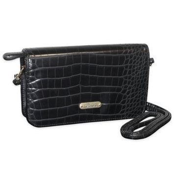 Buxton Women's Nile Exotics Crossbody Mini Bag Black Size 7.5