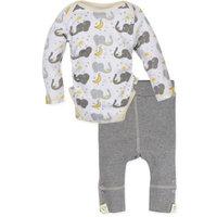 MiracleWear® Size 12-18M 2-Piece Posheez Snap 'n Grow Elephant Long-Sleeve Bodysuit and Pant Set