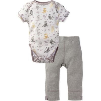 MiracleWear® Size 18-24M 2-Piece Posheez Snap 'n Grow Forest Owl Bodysuit and Pant Set in Grey