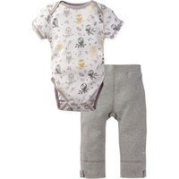 MiracleWear® Size 0-6M 2-Piece Posheez Snap 'n Grow Forest Owl Bodysuit and Pant Set in Grey