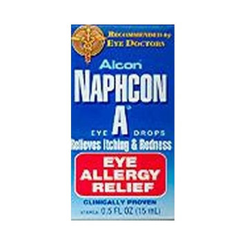 Alcon Naphcon-A Allergy Relief Eye Drops .5 oz. (3-Pack)