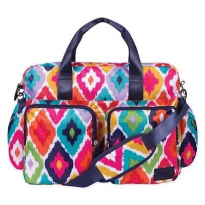 Trend Lab French Bull Ziggy Multi-Colored Chevron Deluxe Duffle Diaper Bag Kat Multi - Trend Lab Diaper Bags & Accessories
