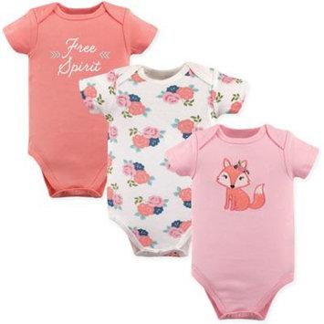 Hudson Baby Girl Bodysuits Set, 3-Pack