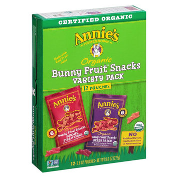 Annie's Bunny Fruit Snacks Variety Pack 12 ct