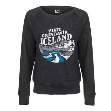Airwaves Visit Grindavik Iceland - LADIES FRENCH TERRY PULLOVER