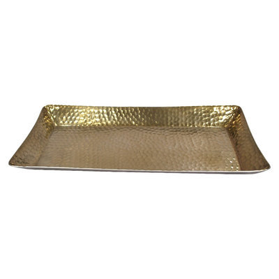Threshold Metal Hammered Serving Tray - Gold