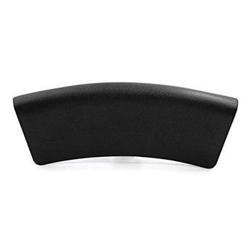 uxcell Black Neck Back Support Bathtub Tub Bath Spa Pillow Cushion w/ 2 Suction Cups 14 Inch x 5.1 Inch