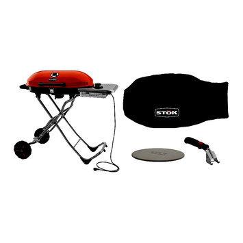 Stok Gridiron 348 sq. in. Portable. Electric Grill w/ Pizza Stone