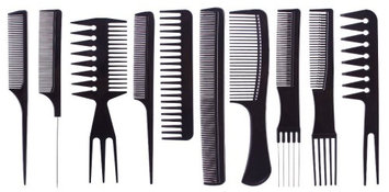 Yphone 10-Piece Professional Comb Set
