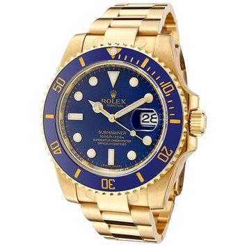 Rolex Men's Submariner Automatic Blue Dial Oyster 18k Solid G