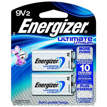 5 Pack Energizer Ultimate Lithium 9V Battery 2 Count Each