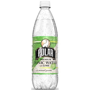 Polar Tonic Water with Lime, 33.8 Fl Oz (Pack of 12)