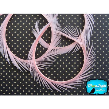 1 Yard - Light Pink Goose Biots Wholesale Feather Trim