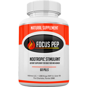 Acnetame Addrena Focus Pep- Over the Counter Stimulants to Speed Up Naturally: Study Alternative and Best Legal Energy Supplements for Nootropic Brain Boosting, 1207 mg, 60 Pills
