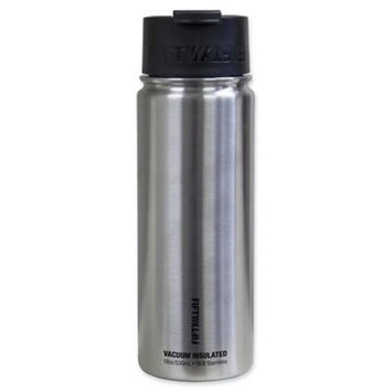 Vacuum Insulated Flip Top Water Bottle (18 oz, Stainless Steel) by FiftyFifty