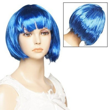 Uxcell Synthetic Fiber Hairpiece/Bob/Hairstyle Short Full Wig, Blue, 0.23 Pound
