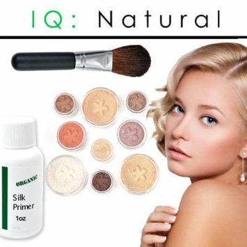 iQ Natural Mineral Makeup Starter Kit – Powder Brush, Silk Primer, Mineral Foundation , Setting Veil , Bisque Concealer, Bronzer + Eye Shadow for Flawless Bare Looking Skin, Full Set (Fair)