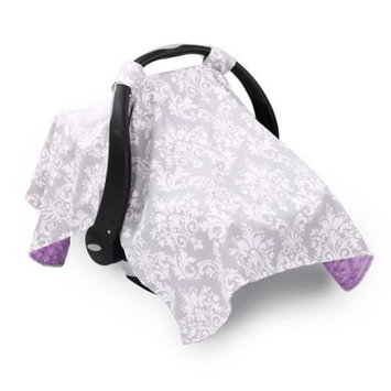 The Peanut Shell Damask Carrier Cover - Purple and Grey