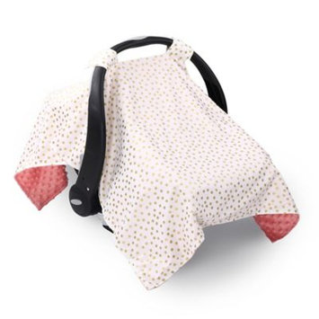 The Peanut Shell Carrier Cover - Coral and Gold Dot