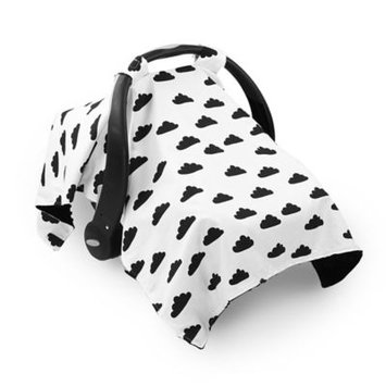 The Peanut Shell Clouds Carrier Cover - Black