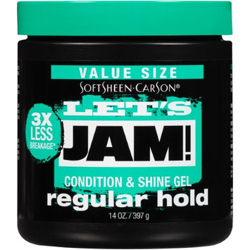 SoftSheen-Carson Let's Jam! Shining and Conditioning Gel, Regular Hold, 14 Oz