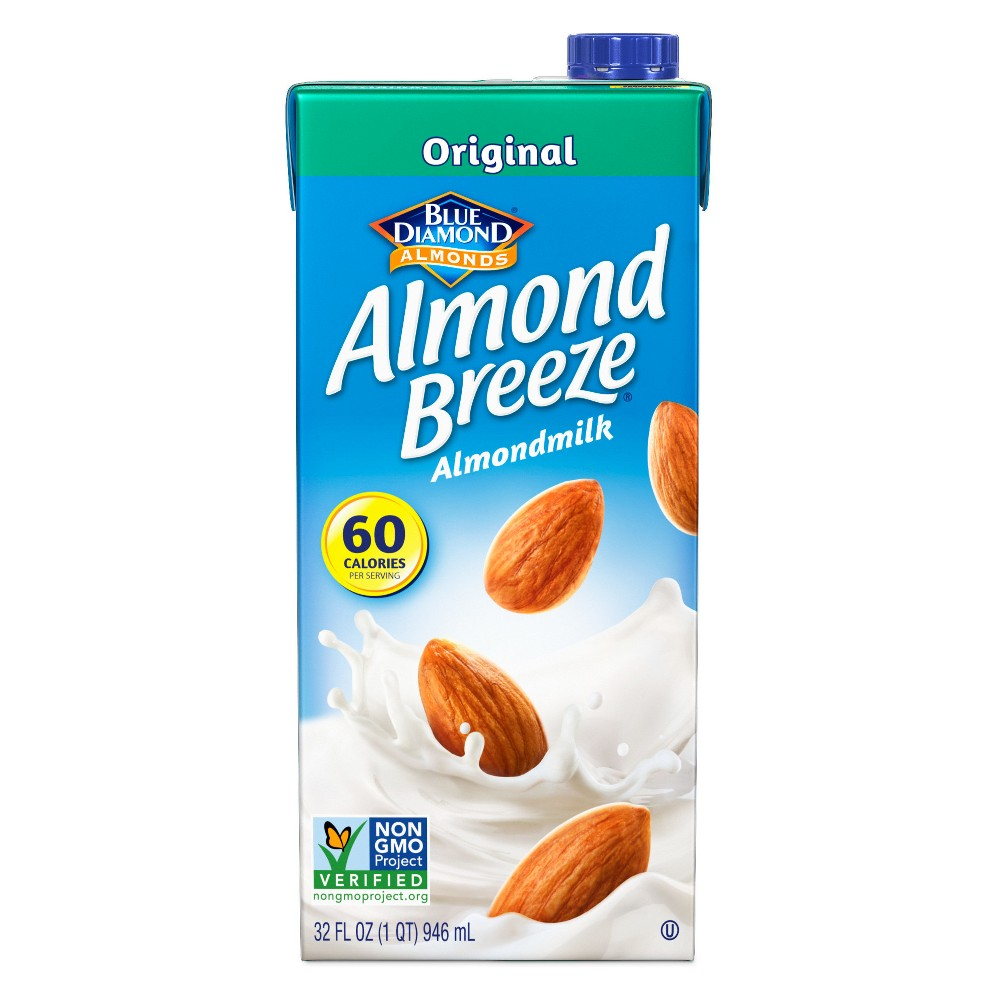 Blue Diamond Almond Breeze Original Almond Milk 32 oz