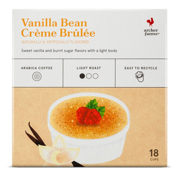 Vanilla Bean Creme Brulee K-Cup pods 18ct - Archer Farms