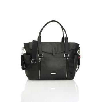 Storksak Emma Leather Changing Bag, Black