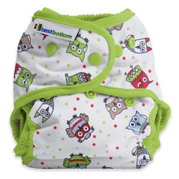 Best Bottom One Size Diaper Shell, Snap, Hoot