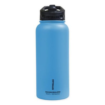 Icy Hot Hydration Icy-Hot Hydration V34002BL0 34 oz Crater Blue Vacuum Insulated Bottle - Straw Lid - Pack of 4