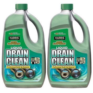 Harris 64 oz. Liquid Drain Clean Professional Build Up Remover (2-Pack)