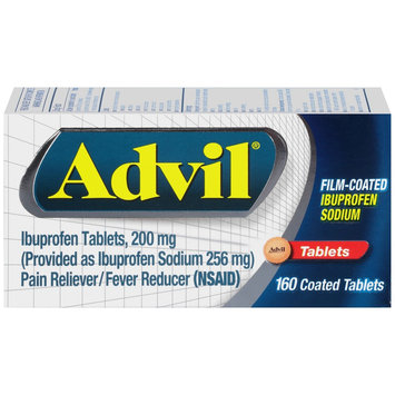 Pfizer Advil Pain and Fever Reducer Film Coated Ibuprofen Tablets - 160 Count