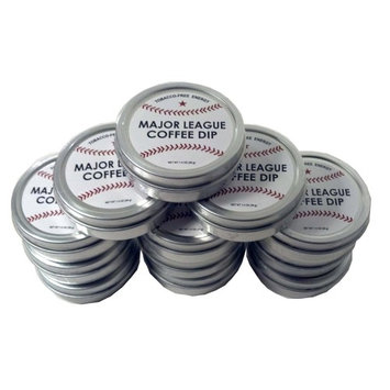 Major League Coffee Dip (Pack of 12) Quit Chewing Tin Can Non Tobacco No Nicotine Smokeless Alternative to Chew Snuff Snus Leaf