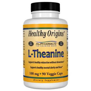 Healthy Origins L-Theanine 100 mg (AlphaWave), 90 Veggie Capsules