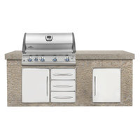 Napoleon BILEX605RBIPSS Built In Liquid Propane Mirage/Lex Grill with 80 000 BTUs 5 Burners Three 304 Stainless Steel Commercial Grade Burners LIFT EASE and