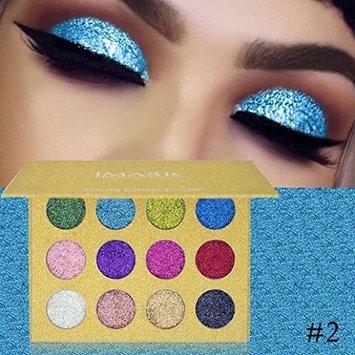 CYCTECH 12 Colors Shimmer Eyeshadow Powder Glitter Smoky Makeup Eye Shadow