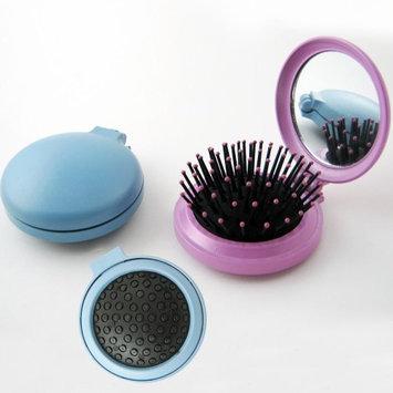 Atb Travel Folding Hair Brush Mirror Pocket Purse Car Camping Compact 2.5 Gift 1Pc