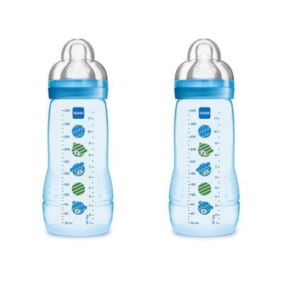 MAM Baby Bottle - Blue - 11 oz - 2 ct