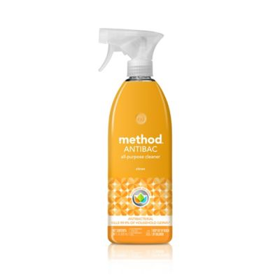 method cleaning products antibacterial cleaner citron spray bottle